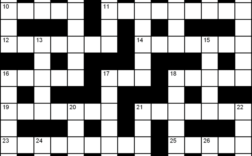 Marketing Crossword.