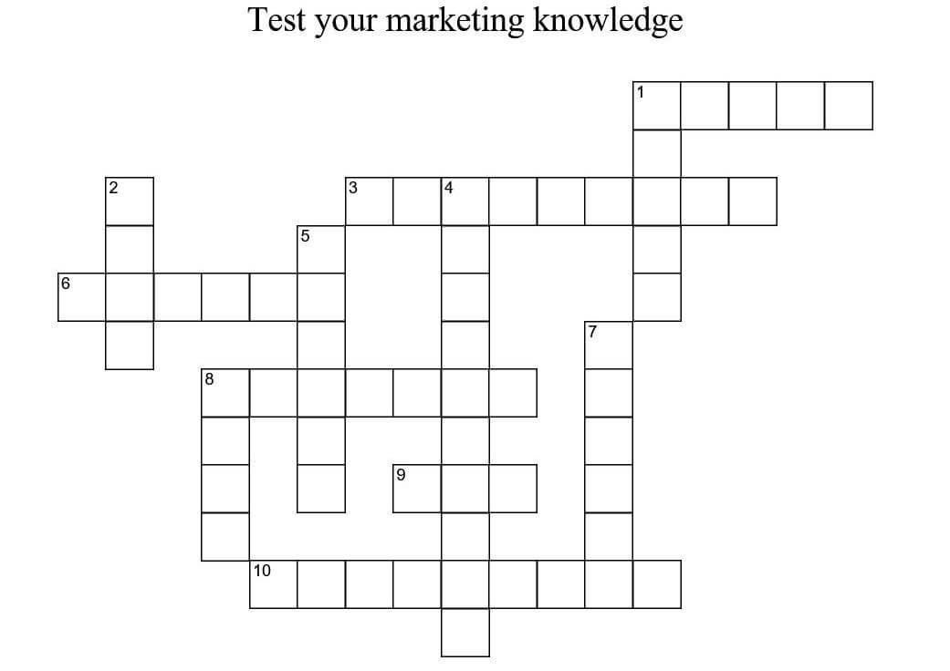Marketing Crossword