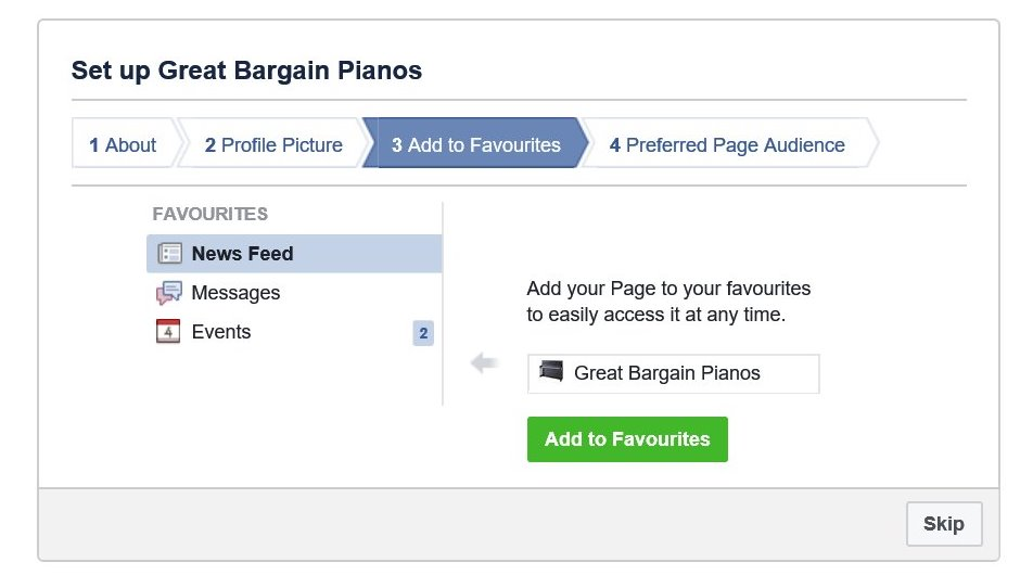 Record the page in your 'favourites'